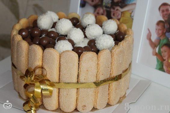 Украшение торта в домашних условиях печеньем